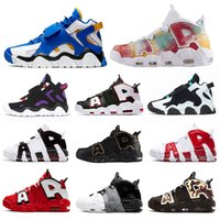 Wholesale tennis uk for sale - Group buy air barrage air more uptempo mens basketball shoes barrage Raptors Cabana Warriors uptempo UK Black Camo sports sneakers
