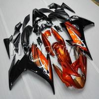 yamaha fz6r abs al por mayor-23colors + Botls capucha naranja motocicleta para Yamaha FZ6 FZ6R 2009-2010 carenado del ABS de la motocicleta