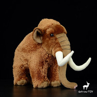 Wholesale toy kids men resale online - Kids Toys Plush Mammoth Dolls Real Life Stuffed Animals Cute Birthday Gifts High Quality Men Women