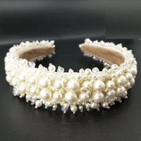 Wholesale beaded hair tiaras for sale - Group buy Pearl Headbands For Women Custom Wedding Tiaras And Crowns For Brides Beaded Headband Star Queen Crown Hair Accessories