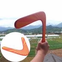 bumerangue disco voador venda por atacado-Atacado-Handmade madeira Boomerang clássico V forma Frisbee Flying Saucer brinquedos criança brinquedo ao ar livre