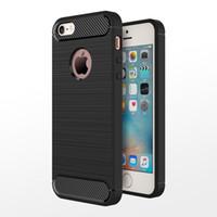 iphone5 drähte großhandel-Smart2019 C - und Ku gelten für Apple 5s Hand Iphone5 / se Kohlefaser-Drahtzieh-Tpu-Softshell-Hülle