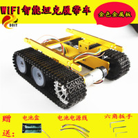 Wholesale parts for electric car for sale - TP100 Crawler Tank Chassis Robot Car Model Contest of a guest Graduation Design for Arduino DIY RC Toy Parts