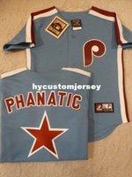 camisetas de retroceso majestuoso al por mayor-Barato personalizado MAJESTIC Philadelphia PHANATIC Sewn THROWBACK Vintage Jersey para hombre cosidas grandes y grandes TAMAÑO XS-6XL para la venta