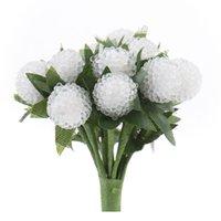 ingrosso bacca bianca pianta-Piante artificiali di vetro Berry Bouquet per DIY Mestieri Puntelli Fotografia Festival della decorazione della casa bianca