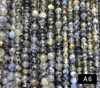 grüne achat runde perle groihandel-8 mm Rot / Blau / Grün / Weiß Karneol Achate Runde Halbedelstein Perlen Perlen Karneol Lose Perlen Für Schmuck Machen DIY Halskette Armband