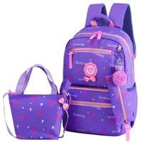Wholesale cute schoolbags resale online - New Fashion Student BookBags Teenager Girls travel Backpacks kids Orthopedic Schoolbags Set High Capacity Cute Schoolbags