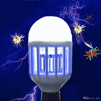 Wholesale white bugs for sale - Group buy Electric Trap Light Indoor W E27 LED Mosquito Killer Bulb Anti Insect Fly Bug Zapper SMD LED Lamp V V Night Light