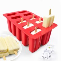 Wholesale rubber ice mold for sale - Group buy Silicone Ice Cream Tubs Eco Friendly Popsicle Mold Household Child for Kitchen Gadgets Dining Bar Accessories Supplies