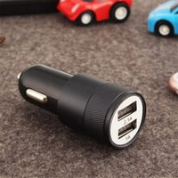 Wholesale mini port cell phone chargers online – 5V A Mini Dual Port USB Car Charger Adapter for Smart Mobile Cell Phone