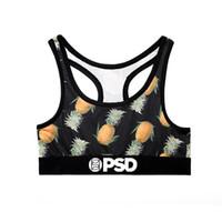 cueca amarela venda por atacado-Frete grátis PSD Flores Quentes das Mulheres Flamingo Abacaxi Cheetah Amarelo impressão Bra Underwear alta qualidade