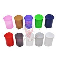 tapa de caja de acrílico al por mayor-30 Dram Empty Squeeze Pop Top Bottle-Vial Herb Box Acrílico Plástico Stroage Stash Jar Pill Bottle Case Caja Herb Container Plastic Tin