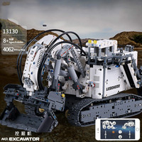Wholesale remote control resale online - Science and technology machinery force cell phone APP remote control engineering vehicle model assembling building block toy