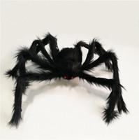 arañas falsas al por mayor-Araña de Halloween Decoración al aire libre Fake Big Hair Spider Props Yarda Decoración Big Scary Multicolor Fake Fairy Spider A02