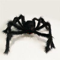 gefälschte spinnen großhandel-Halloween Spinne Außendekoration Fake Big Hair Spider Requisiten Hofdekoration Big Scary Multicolor Fake Fairy Spider A02