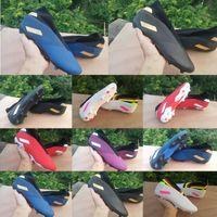 botas de vermelho azul branco venda por atacado-2020 chegam novas Shoes Mens Futebol Messi Nemeziz 19,3 laceless FG ás 19 + x Deslizamento-em 360 Football alta Tornozelo Azul Vermelho Branco Botas Grampos 39-45