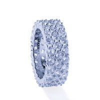 Wholesale james jewelry resale online - James Men s Hip Hop Bling Bling Iced Out Tennis Rings Row MM Cubic Zircon Copper Rings Luxury Clastic Silver Gold Color Fashion Jewelry