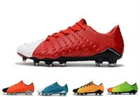 Wholesale cheap original cleats for sale - 2018 original soccer cleats Hypervenom Phantom III FG low top neymar boots cheap soccer shoes for men authentic football boots mens new