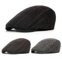 550e0a9c529 Wholesale vintage wool newsboy cap online - Autumn Spring Sun Hat For  Classic Men Western Vintage