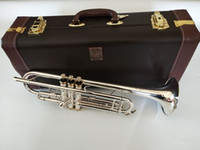 Wholesale silver bach trumpets resale online - NEW Trumpet LT197S Bach High quality silver Plated Musical instruments Super Professional performance