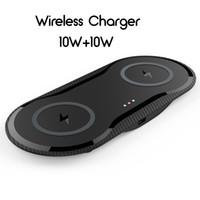 nexus sans fil chargeur de voiture achat en gros de-Double 10W Téléphone base Chargeur sans fil pour iPhone Samsung Protection actuelle Chargeur sans fil Support Dissipation automatique de chaleur 131