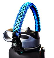 paracord de aço inoxidável venda por atacado-Corda de garrafa Titular Paracord alça Carrier Strap Cord para boca larga 12 oz a 64 oz garrafa de água de aço inoxidável A04