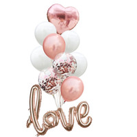 Wholesale valentines latex balloons for sale - Group buy 12 Inch Valentine Day Wedding Party Balloon Love Mermaid Sequins Balloons Set Natural Latex Airballoon Hot Selling as L1