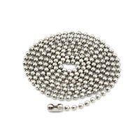 ingrosso modelli catena di perle-100 pz / lotto, placca non-fading collane catena di perline fai da te sicurezza senza stimolazione Brillante 3 colori catena pendente modello 60 cm * 2,2 mm