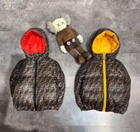mädchen unten parka lang großhandel-Winterjacken Daunenjacke der Marke Kinder für Mädchen Warm mit Kapuze lange Hülsen-Baby-Kleinkind-Jungen-Jacken für Kinder Parka Oberbekleidung
