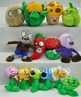 ingrosso pianta contro gli zombie morbidi-Plants vs Zombies giocattoli peluche 12cm Plants vs Zombies giocattoli peluche ripieni morbidi bambola giocattolo per bambini regali per bambini giocattoli per feste # 001