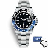 смотреть черный синий оптовых-Новый мастер керамический ободок Мужские часы Glide Lock Застежка-ремешок Автоматические синие черные часы Спортивные часы Crown Наручные часы Orologio Reloj Montre