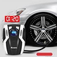 Wholesale auto tire lights for sale - Group buy DC Volt Car Portable Air Compressor Pump Digital Tire Inflator PSI Auto Air Pump for Car Motorcycle LED Light Tire