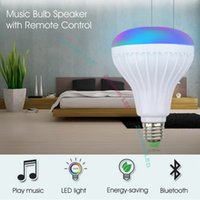 Wholesale rgb led bulbs for sale - Group buy Smart LED Light RGB Wireless Bluetooth Speakers Bulb Lamp Music Playing Dimmable W Music Player Audio with Keys Remote Control