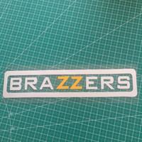komik yansıtıcı çıkartmalar toptan satış-22.5 * 4.9 CM komik BRAZZERS yansıtıcı araba aksesuarları sticker laptop sticker CA-666