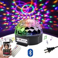 Wholesale led mp3 player bluetooth speaker for sale - Group buy 9 color LED Bluetooth Speaker Disco Ball Light with Mp3 Player Prom Laser Party Light W DJ Stage Light Laser Projection Lamp