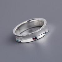 ingrosso anelli di fascia larga per le donne-2019 vendita calda S925 argento puro anello largo e stretto per le donne e l'uomo gioielli da sposa gioielli di marca spedizione gratuita PS5588