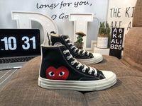 nokta ayakkabılar toptan satış-2019 Yeni Chuck Ayakkabı 1970'ler Klasik Tuval Casual Çal Birlikte Büyük Gözler Yüksek En kaliteli Nokta Kalp CDG Kadınlar Erkek Tasarımcı Sneakers 35-44
