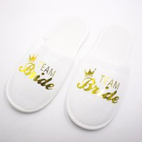 Wholesale disposables hotel slippers for sale - Group buy Travel Hotel SPA Anti slip Disposable Slippers Home Guest Shoes Letter Printing Breathable Soft Portable Party Disposable Slippers RRA2846