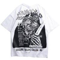 m faca venda por atacado-2019 Harajuku T Shirt Crânio Faca Hip Hop Tshirt Dos Homens Streetwear Verão Tops Tees HipHop T-Shirt De Grandes Dimensões de Algodão de Manga Curta