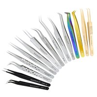 Wholesale hair removal clip for sale - Group buy Stainless Steel Tweezer False Eyelash Tweezers Eyelashes Extension Curler Nipper Hair Removal Clip Makeup Tools GGA2369