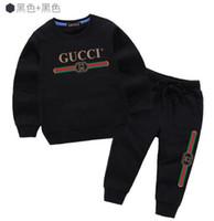 bebek bayan süveter tutu toptan satış-Bebek Giyim Setleri Çocuk giyim Sonbahar Ve Kış Yeni Desen Erkek Kız Kazak Takım Elbise çocuk ceket elbise oerwds