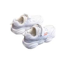 ingrosso scarpe da bambino in pelle bianca-Bambini Scarpe in pelle Bambino Tempo libero Impermeabile Assorbimento urti Piccole scarpe bianche Scarpe antinfortunistiche antiscivolo Resistenti all'usura 45