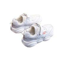 bebek ayakkabıları toptan satış-Çocuk Deri Ayakkabı Çocuk Eğlence Su Geçirmez Şok Emilimi Küçük Beyaz Ayakkabı Nefes Aşınmaya Dayanıklı Kaymaz Bebek Ayakkabıları 45