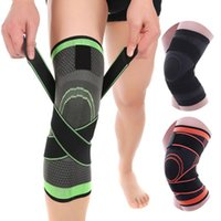 Wholesale brace bandage resale online - Knee Support Professional Protective Sports Knee Pads Breathable Bandage Knee Brace for Basketball Cycling Running Party Favor ZZA1601
