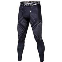 leggings negros para hombre al por mayor-Black Panther 3D Mens Workout Fitness Leggings Pantalones elásticos Bottom Crossfit Levantamiento de pesas Culturismo Leggin Male SkinTrouser