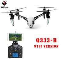 Wholesale rc gyro camera resale online - WLtoys Q333 B Q333B CH Gyro Transformer One Key return Headless Mode WiFi FPV RC Quadcopter RTF Aircraft with MP Camera
