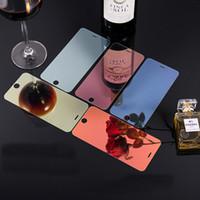 couvertures d'écran coloré iphone achat en gros de-Miroir Verre Trempé Pour iPhone X XS Max XR 7 8 Plus Film de protection d'écran avec effet de miroir Couverture de protection coloré