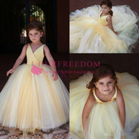 Wholesale cupcakes for graduation for sale - Group buy 2019 Cupcake V neck Mini Flower Girl Dresses for Weddings Pageant Girls Formal Little Kids Birthday Party Gowns