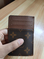 Wholesale mini id wallet resale online - 2019 New Mens Fashion Classic Design Casual Credit Card ID Holder Quality Real Leather Ultra Slim Wallet Packet Bag For Mans Womans
