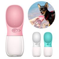 ingrosso ciotola di tazza di canna-350ml Pet Dog Water Bottle Pet portatile da viaggio Acqua Drink Cup con ciotola dispenser per camminare piccoli cani